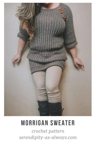 Morrigan Sweater Crochet Winter Pattern by SerendipityasAlways