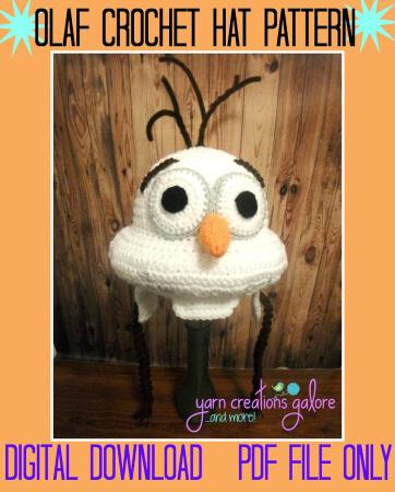 Olaf Crochet Pattern by YarnCreationsGalore