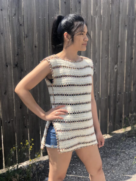 Side Slit Top Sexy Crochet Dress Pattern by KnitcroAddict