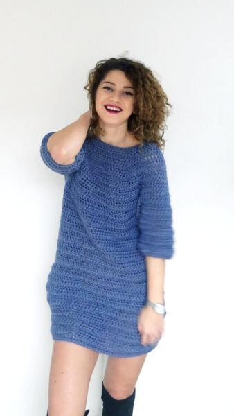 Sweater Crochet Winter Dress from By Katerina