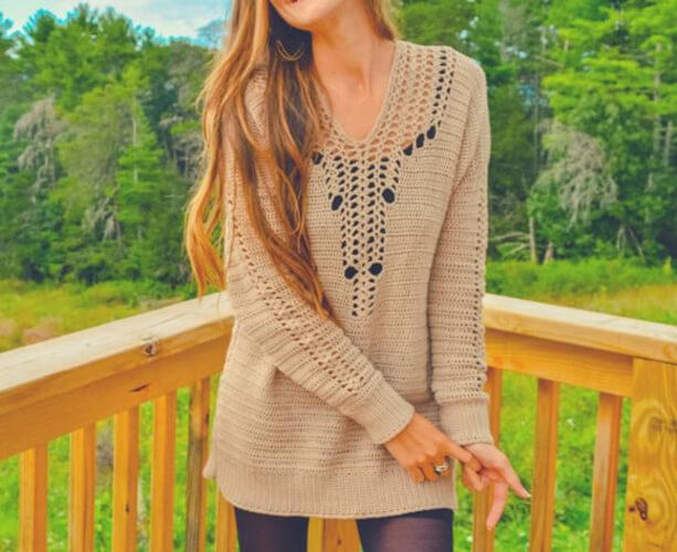Sweater Crochet dress pattern by MermaidcatDesigns