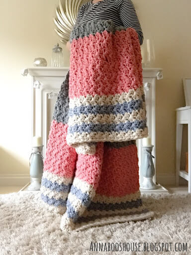 The Enormous Squishy Modern Crochet Afghan Pattern by Annaboos House