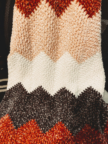 Velvet Moss Baby Lapghan Crochet Pattern by BrechellesBoutique