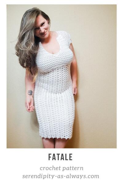 Women's Fatale Crochet Summer Dress Pattern by SerendipityasAlways
