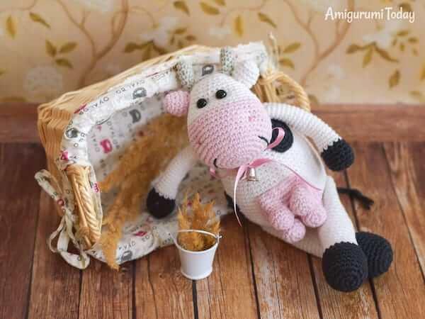 Alpine Cow Crochet Pattern by Amigurumi Today