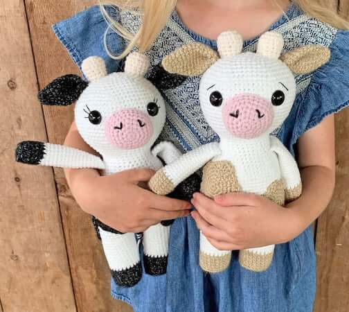 Amigurumi Cow Crochet Pattern by Grace And Yarn