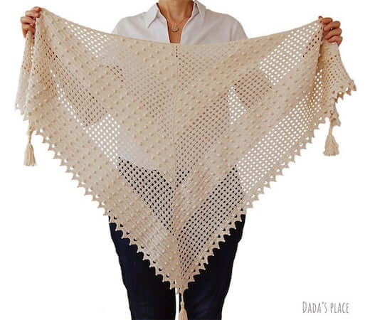 Awana Lace Shawl Crochet Pattern by Dada's Place