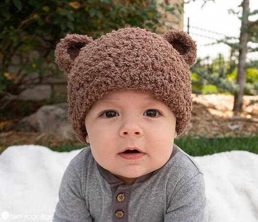 Bear Beanie Free Crochet Pattern by Heart Hook Home