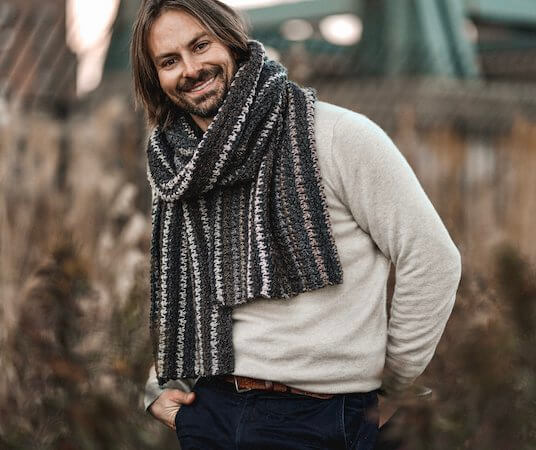 Bernard Houndstooth Scarf Easy Crochet Tapestry Pattern by Two Of Wands