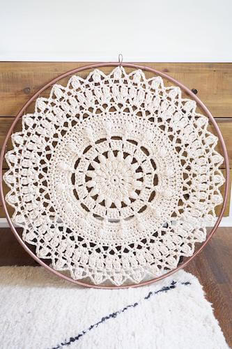 Bloom Mandala Crochet Pattern by 1 Dog Woof
