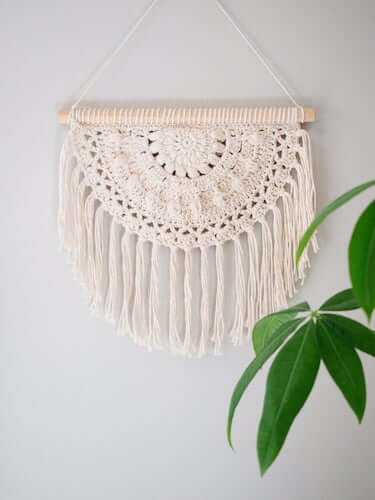 Blossom Wall Hanging Crochet Pattern by 1 Dog Woof