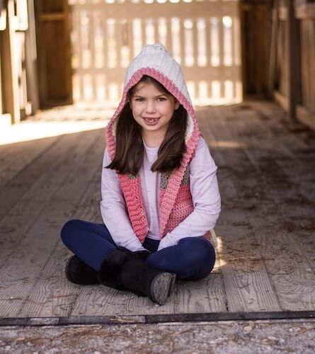 Child Hooded Vest Crochet Pattern by Crochet It Creations