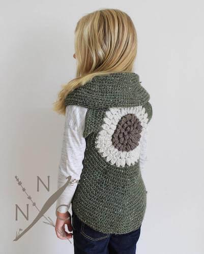 Clementine Shrug Vest Crochet Pattern by Naturally Nora Crochet