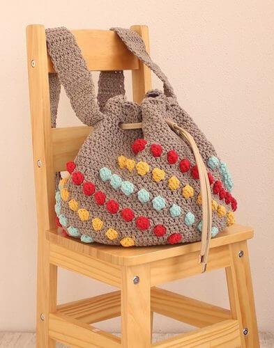 Cotton Waves Circular Crochet Handbag Pattern by My Accessory Box