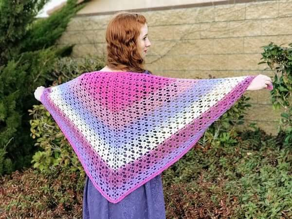 Crochet Amore Shawl Pattern by Desert Blossom Crafts