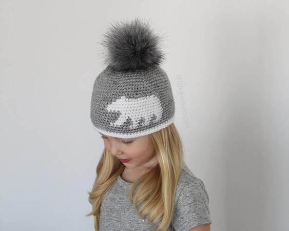 Crochet Bear Silhouette Hat Pattern by Lakeside Loops