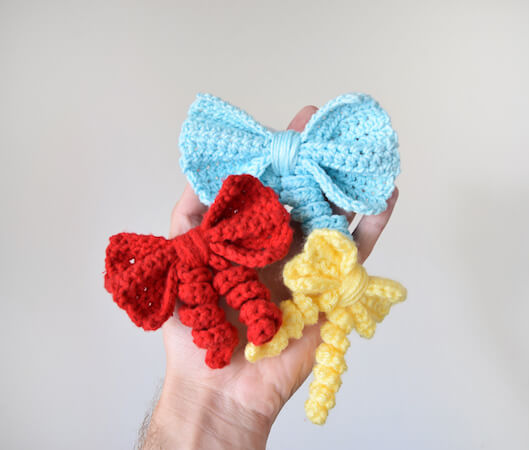 Crochet Bow Pattern by Knot Bad Ami