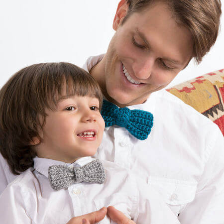 Crochet Bow Ties For The Guys Pattern by Red Heart