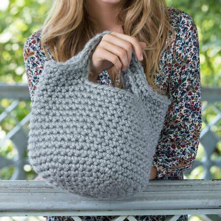 Crochet Charming Handbag Pattern by Red Heart