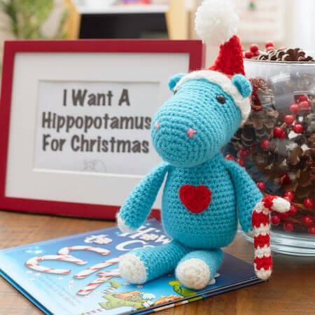 Crochet Christmas Hippopotamus Pattern by Red Heart
