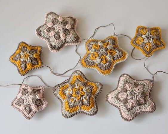 Crochet Christmas Star Ornament Pattern by Lilla Bjorn Crochet