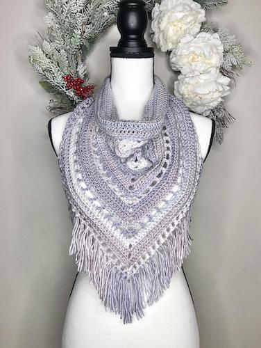 Crochet Fringe Cowl Pattern by Danni's Designs Crafts