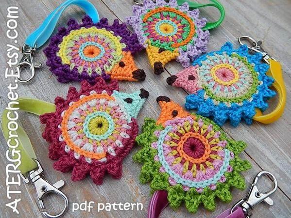 Crochet Hedgehog Keychain Pattern by ATERG Crochet