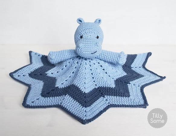Crochet Hippo Lovey Pattern by Tilly Some