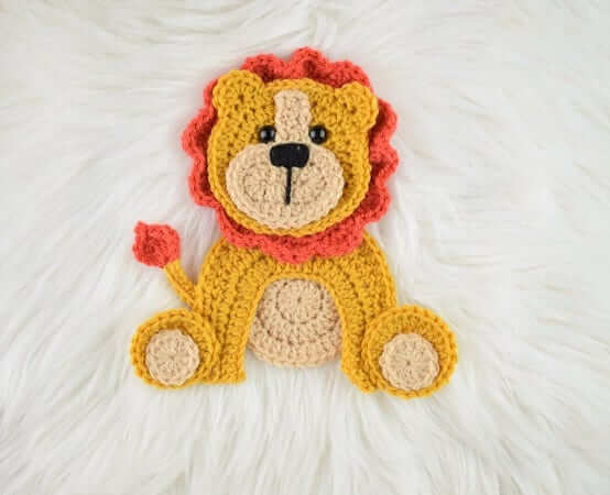 Crochet Lion Applique Pattern by Passionate Crafter