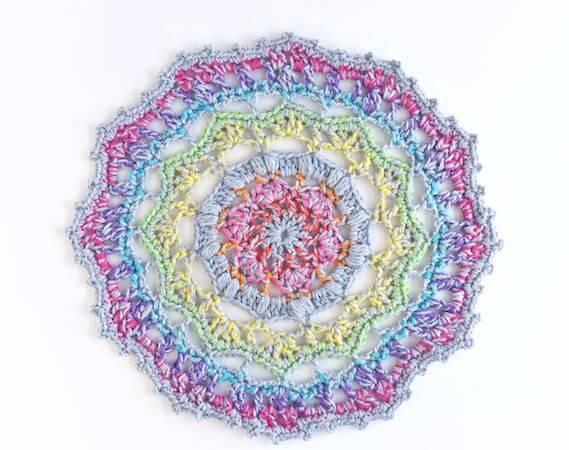 Crochet Mandala Pattern by The Spruce Crafts