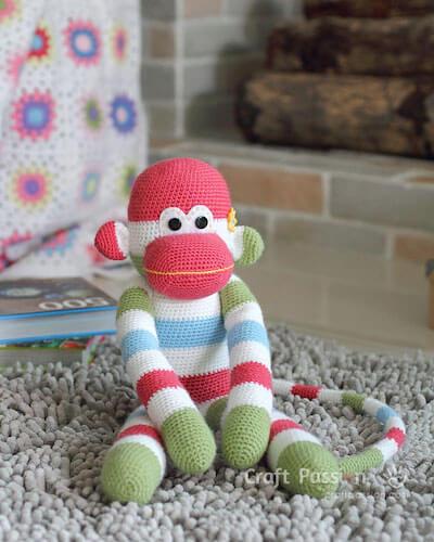Crochet Monkey Amigurumi Pattern by Craft Passion