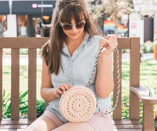 Crochet Rover Circle Bag Pattern by Sewrella