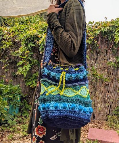 Crochet Sling Bag Pattern by Earth Tricks