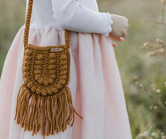 Crochet Toddler Crossbody Bag Pattern by A Crafty Concept
