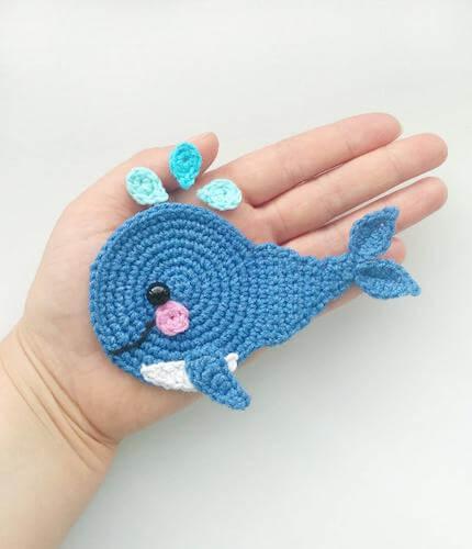 Appliqué Crochet Whale Pattern by Fancy Infancy Crochet