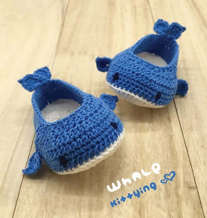 Crochet Whale Baby Booties Pattern by Meinuxing