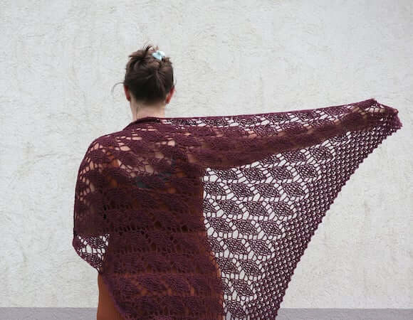 Dancing Lights Shawl Crochet Pattern by Ala Sascha