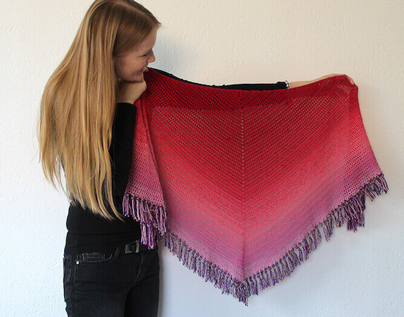 Double Crochet All The Way Shawl Pattern by Wilmade