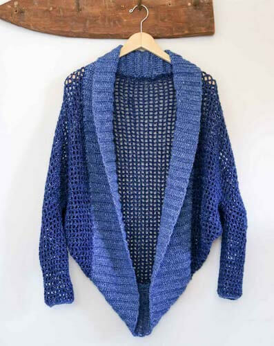 Easy Crochet Shrug Pattern by Make And Do Crew