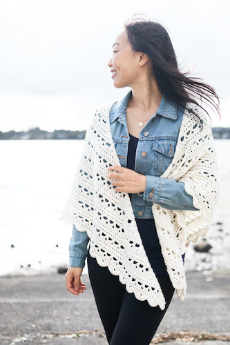 Easy Crochet Wrap Pattern by For The Frills