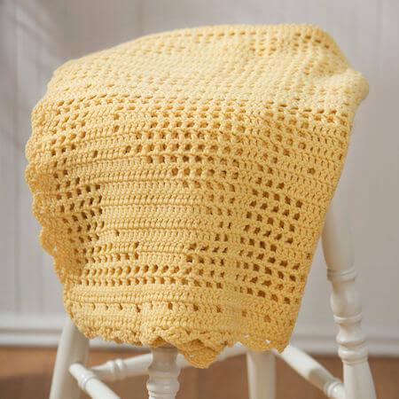 Filet Crochet Bunny Blanket Pattern by Red Heart