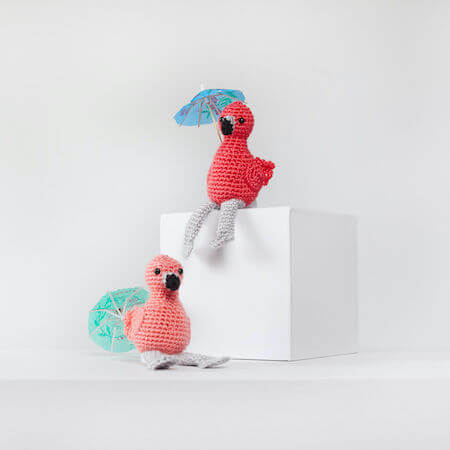 Fiona And Fred Crochet Flamingo Pattern by Red Heart