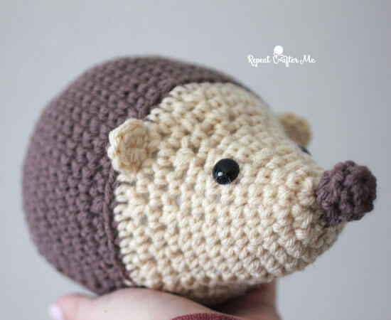 Free Crochet Hedgehog Pattern by Repeat Crafter Me
