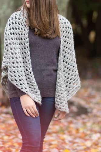 Free Crochet Shawl Granny Pattern by Easy Crochet