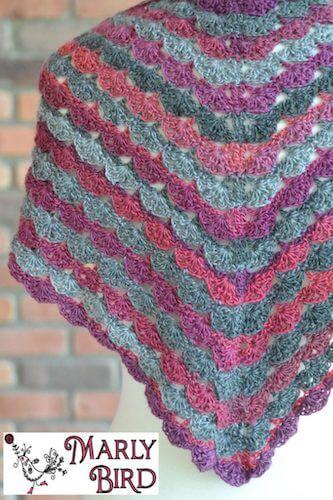 Free Crochet Shawl Pattern by Marly Bird