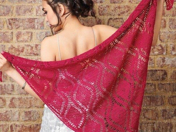 Free Lace Shawl Crochet Pattern by Sara Huntington