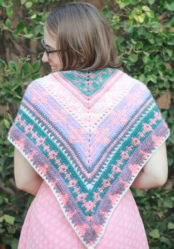 Free Tapestry Crochet Shawl Pattern by Claire Goodale