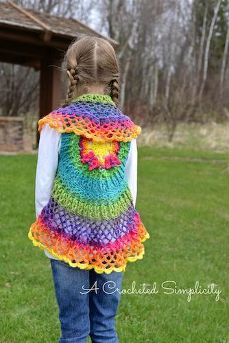 Girls Butterfly Mandala Vest Crochet Pattern by A Crocheted Simplicity