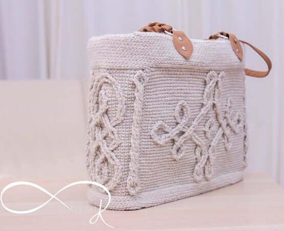Infinity Crochet Cable Handbag Pattern by Briana K Designs