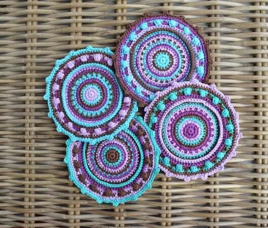 Mandala Coaster Crochet Pattern by Lilla Bjorn Crochet